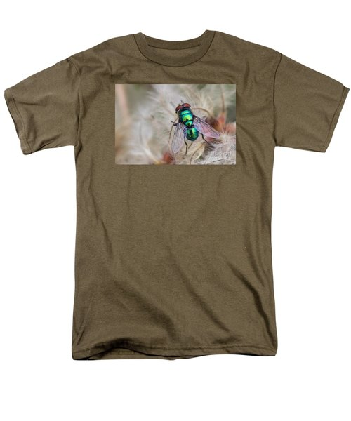 Men's T-Shirt  (Regular Fit) featuring the photograph Green Bottle Fly by Jivko Nakev