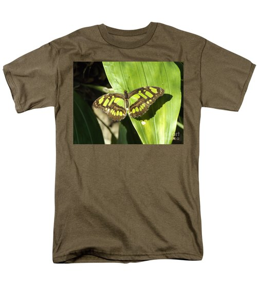 Green Butterfly Men's T-Shirt  (Regular Fit) by Erick Schmidt