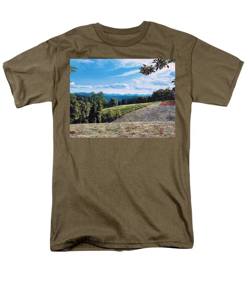 Men's T-Shirt  (Regular Fit) featuring the painting Green Country by Joshua Martin