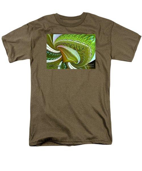 Men's T-Shirt  (Regular Fit) featuring the digital art Green Diamonds by Melissa Messick