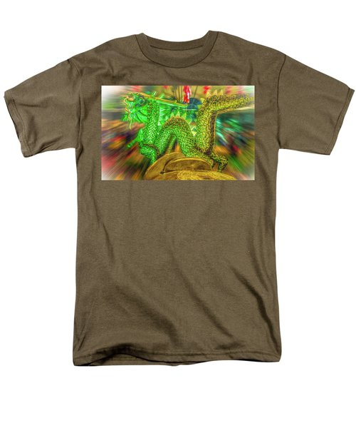 Green Dragon Men's T-Shirt  (Regular Fit) by Mark Dunton