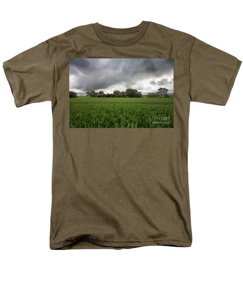 Men's T-Shirt  (Regular Fit) featuring the photograph Green Fields 5 by Douglas Barnard
