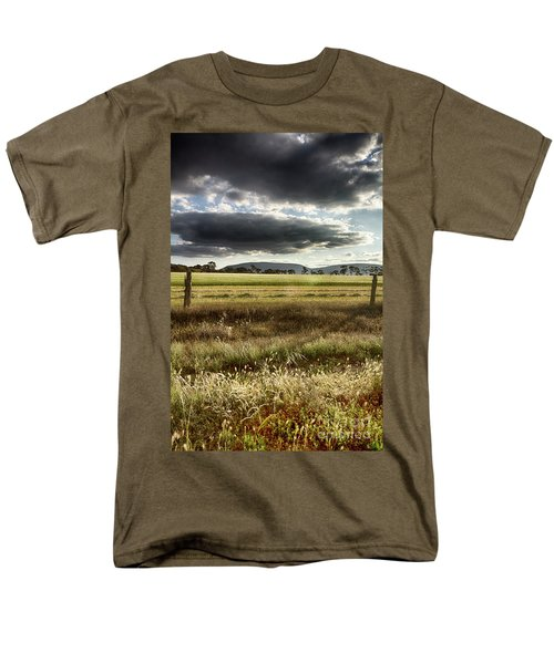 Men's T-Shirt  (Regular Fit) featuring the photograph Green Fields 6 by Douglas Barnard