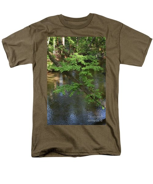 Men's T-Shirt  (Regular Fit) featuring the photograph Green Is For Spring by Skip Willits