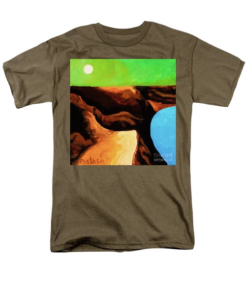 Men's T-Shirt  (Regular Fit) featuring the painting Green Skies by Igor Postash