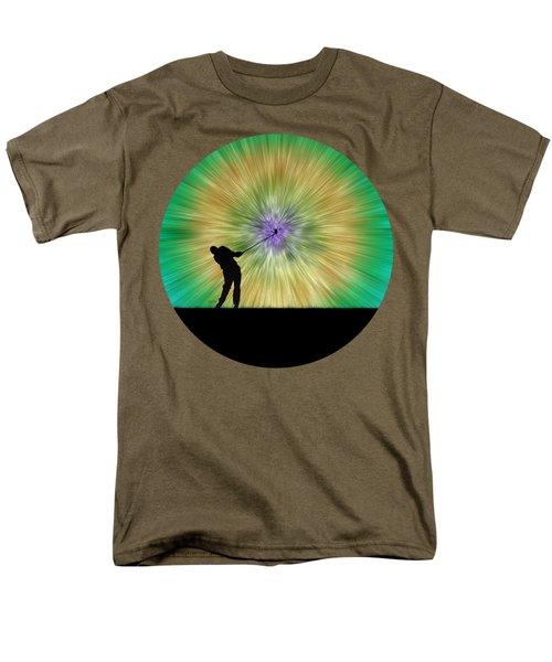 Green Tie Dye Golfer Silhouette Men's T-Shirt  (Regular Fit) by Phil Perkins
