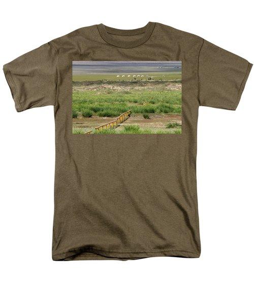 Men's T-Shirt  (Regular Fit) featuring the photograph Greenery In Desert, Gobi, 2016 by Hitendra SINKAR