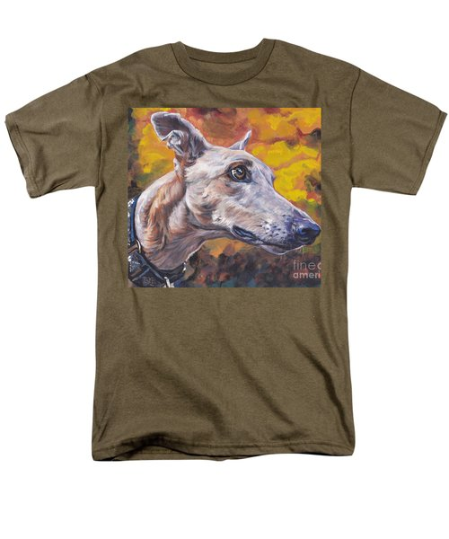 Men's T-Shirt  (Regular Fit) featuring the painting Greyhound Portrait by Lee Ann Shepard