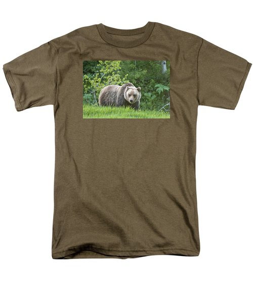 Men's T-Shirt  (Regular Fit) featuring the photograph Grizzly Bear by Gary Lengyel