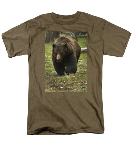 Grizzly Boar-signed-#7914 Men's T-Shirt  (Regular Fit) by J L Woody Wooden