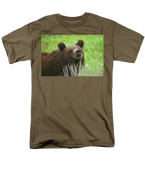 Men's T-Shirt  (Regular Fit) featuring the photograph Grizzly Cub by Steve Stuller