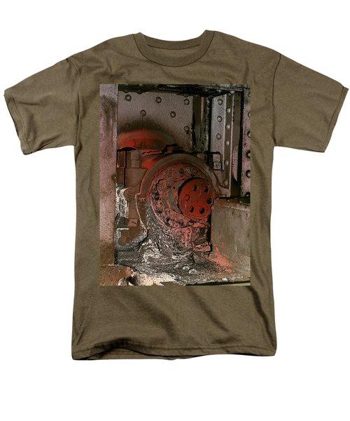 Men's T-Shirt  (Regular Fit) featuring the photograph Grunge Gear Motor by Robert G Kernodle