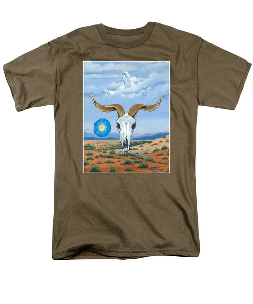 Guadalupe Visits Georgia O'keeffe Men's T-Shirt  (Regular Fit) by James Roderick