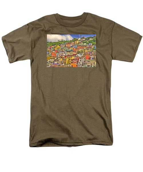 Guanajuato Hillside Men's T-Shirt  (Regular Fit) by Juli Scalzi