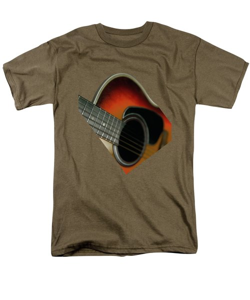 Men's T-Shirt  (Regular Fit) featuring the photograph  Guitar  Acoustic Close Up by Bruce Stanfield