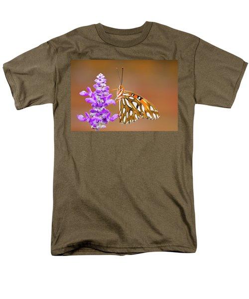 Gulf Fritillary Men's T-Shirt  (Regular Fit) by Shelley Neff