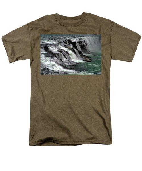 Gullfoss Waterfalls, Iceland Men's T-Shirt  (Regular Fit) by Dubi Roman
