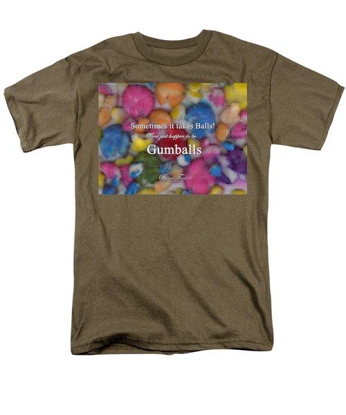 Gumballs #0000d Men's T-Shirt  (Regular Fit) by Barbara Tristan