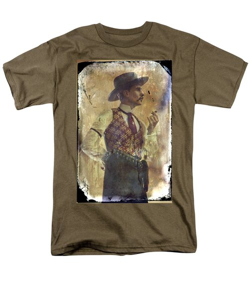 Men's T-Shirt  (Regular Fit) featuring the photograph Gunslinger IIi Doc Holliday In Fine Attire by Toni Hopper