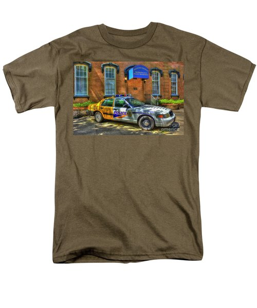 Men's T-Shirt  (Regular Fit) featuring the photograph Half And Half What Is It Manna Savannah Georgia Police Art by Reid Callaway