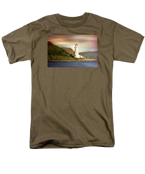 Halifax Harbor Lighthouse Men's T-Shirt  (Regular Fit) by Diana Angstadt