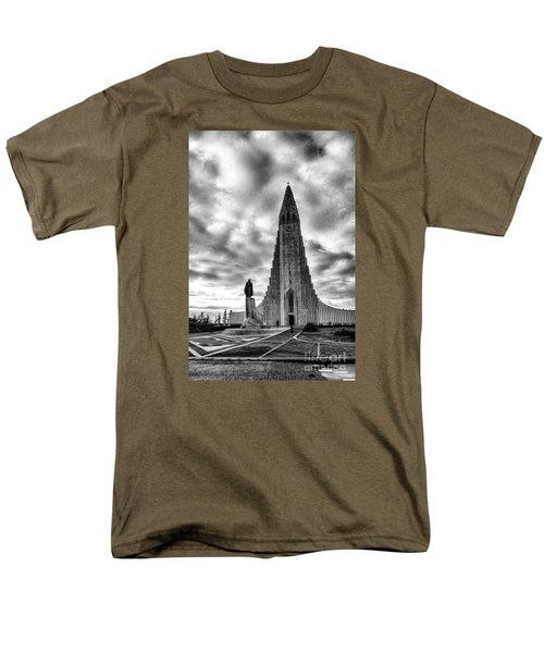 Men's T-Shirt  (Regular Fit) featuring the photograph Hallgrims Kirkja Iceland by Rick Bragan