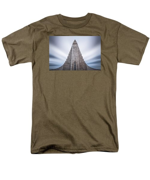 Hallgrimskirkja Cathedral Men's T-Shirt  (Regular Fit) by Brad Grove