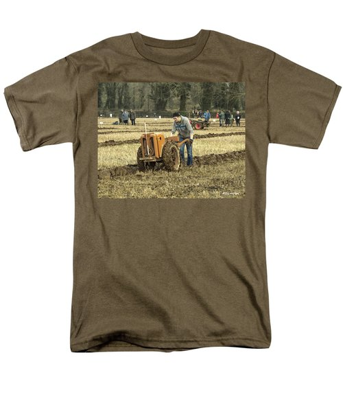Men's T-Shirt  (Regular Fit) featuring the photograph Hand Held Tractor Plough by Roy McPeak