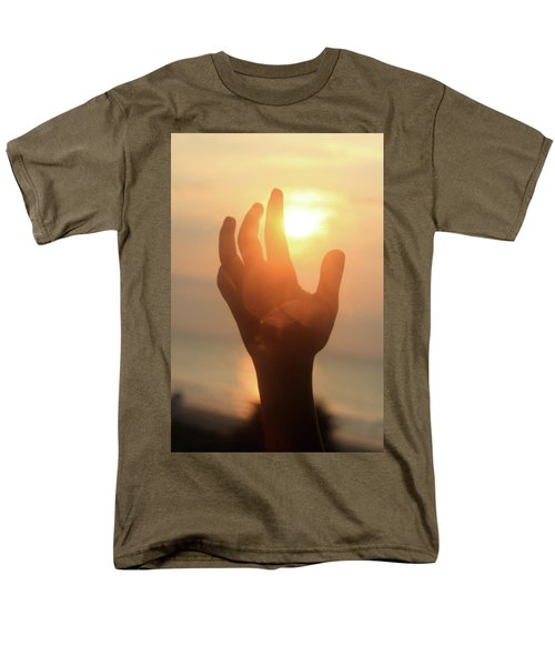 Hand Reaching Fore The Sun Men's T-Shirt  (Regular Fit) by Emanuel Tanjala