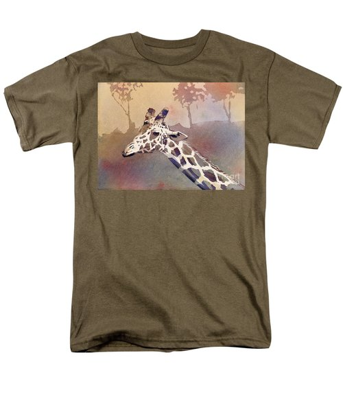 Men's T-Shirt  (Regular Fit) featuring the painting Hanging Out- Giraffe by Ryan Fox