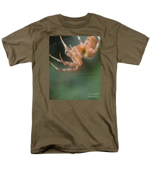 Men's T-Shirt  (Regular Fit) featuring the photograph Hanging Spider by Christina Verdgeline