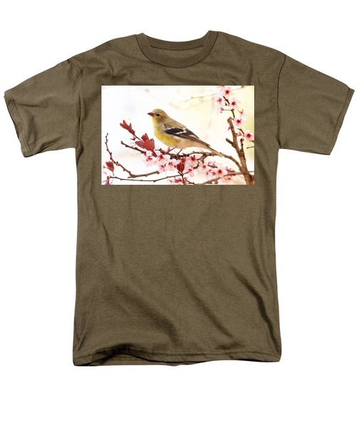 Happy Goldfinch Men's T-Shirt  (Regular Fit) by Trina Ansel