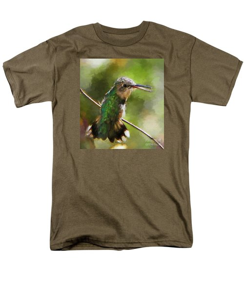 Happy Hummingbird Men's T-Shirt  (Regular Fit) by Tina  LeCour