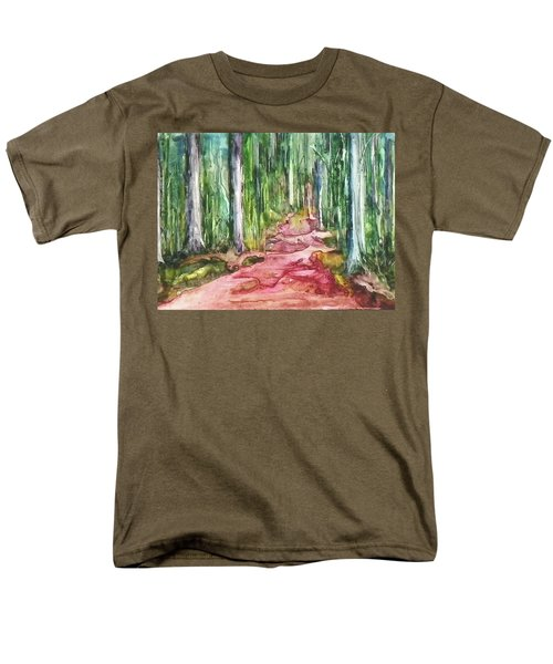 Men's T-Shirt  (Regular Fit) featuring the painting Happy Trail by Anna Ruzsan