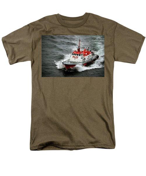 Men's T-Shirt  (Regular Fit) featuring the photograph Harbor Master Pilot by Allen Carroll