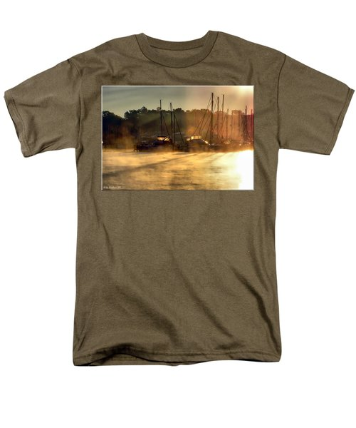 Men's T-Shirt  (Regular Fit) featuring the photograph Harbor Mist by Brian Wallace