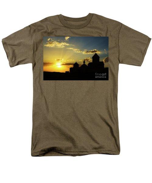 Harichavank Monastery At Sunset, Armenia Men's T-Shirt  (Regular Fit) by Gurgen Bakhshetsyan