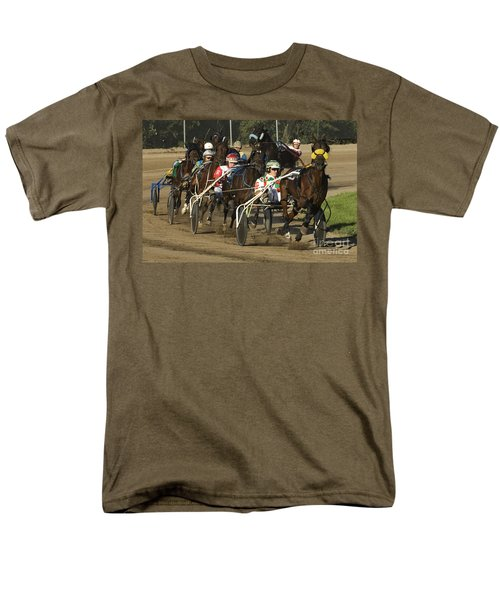 Harness Racing 9 Men's T-Shirt  (Regular Fit) by Bob Christopher