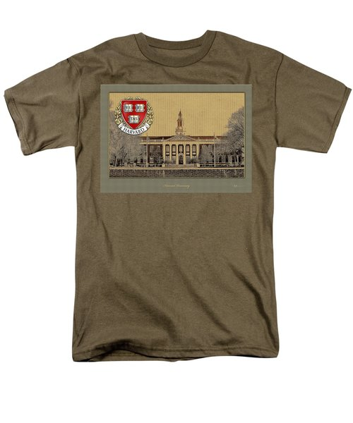Harvard University Building With Seal Men's T-Shirt  (Regular Fit) by Serge Averbukh