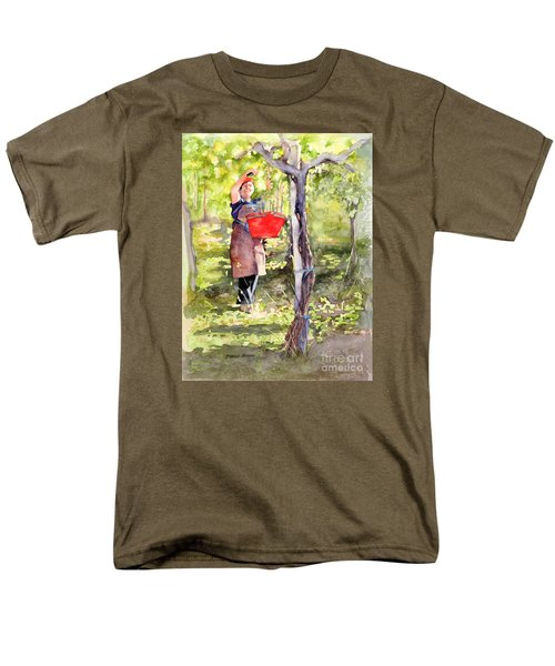 Harvesting Anna's Grapes Men's T-Shirt  (Regular Fit) by Bonnie Rinier