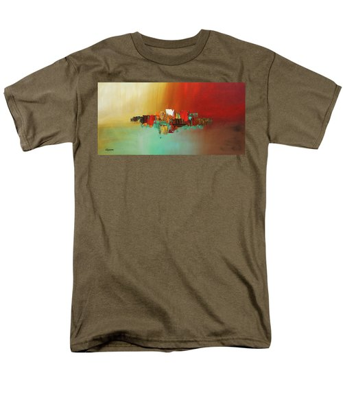 Men's T-Shirt  (Regular Fit) featuring the painting Hashtag Happy - Abstract Art by Carmen Guedez