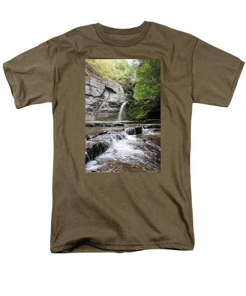 Eagle Cliff Falls II Men's T-Shirt  (Regular Fit) by Trina  Ansel