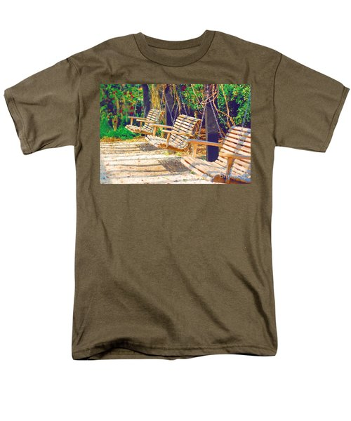 Men's T-Shirt  (Regular Fit) featuring the photograph Have A Seat Relax by Donna Bentley