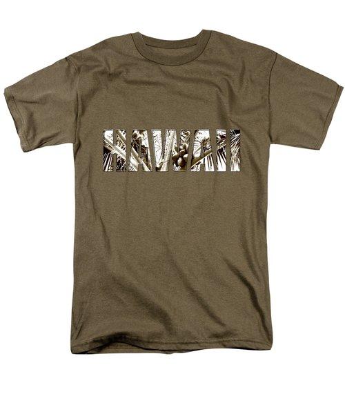 Hawaii Coconut Palm Type Men's T-Shirt  (Regular Fit) by Kerri Ligatich