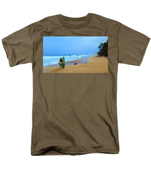 Hawaiian Surfer Girl Men's T-Shirt  (Regular Fit) by Michael Rucker