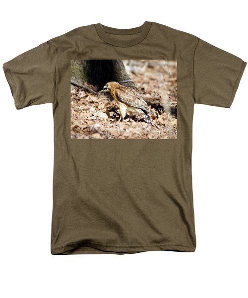 Men's T-Shirt  (Regular Fit) featuring the photograph Hawk And Gecko by George Randy Bass