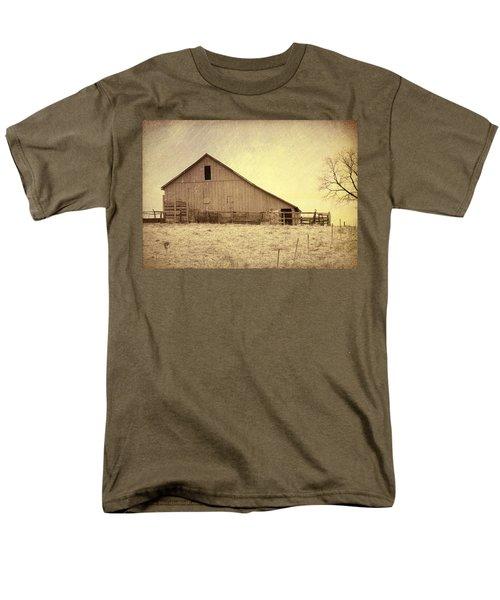 Men's T-Shirt  (Regular Fit) featuring the photograph Hay Barn by Susan Crossman Buscho