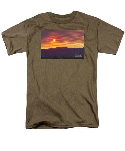 Men's T-Shirt  (Regular Fit) featuring the photograph Hazy Las Vegas Sunset by Aloha Art