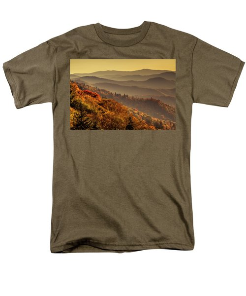 Hazy Sunny Layers In The Smoky Mountains Men's T-Shirt  (Regular Fit) by Teri Virbickis