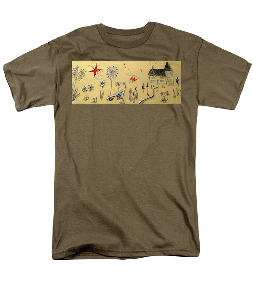 Heart Cottage Red 2 Men's T-Shirt  (Regular Fit) by Kathy Spall